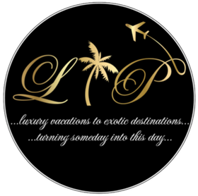 Leisure Travel Plus black and gold logo